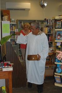 A Hawaiian blessing by Pastor Charlie Yabui of Kahalehoano Hou O Ke Akua